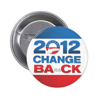 Botón político de 2012 cambios detrás pins