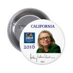 Botón político de California del funcionario de Pin