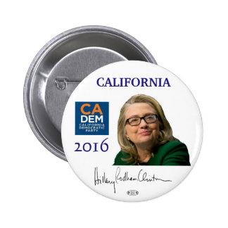 Botón político de California del funcionario de Pin Redondo De 2 Pulgadas