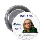 Botón político de Indiana del funcionario de Pin