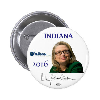 Botón político de Indiana del funcionario de Pin Redondo De 2 Pulgadas