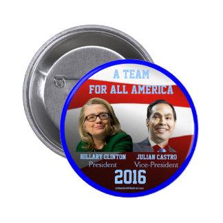 Botón político del jugate de Clinton Castro 2016 Pin