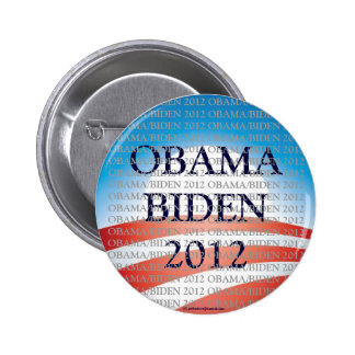 Botón político del pinback de OBAMA/BIDEN en 2012 Pin Redondo De 2 Pulgadas