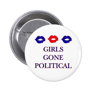 Botón político ido chicas del logotipo pin redondo de 2 pulgadas