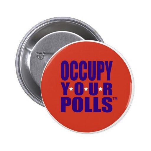 Botón político pin redondo de 2 pulgadas