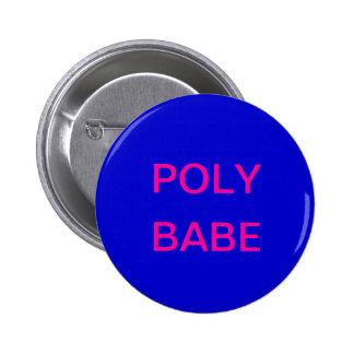 Botón polivinílico del bebé pin