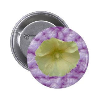 Botón poner crema del Hollyhock Pin Redondo De 2 Pulgadas