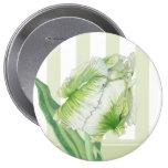 Botón poner crema verde del tulipán pin
