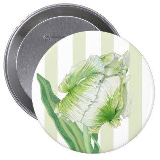 Botón poner crema verde del tulipán pins
