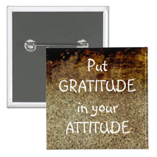 Botón positivo de la afirmación de la GRATITUD rús Pins