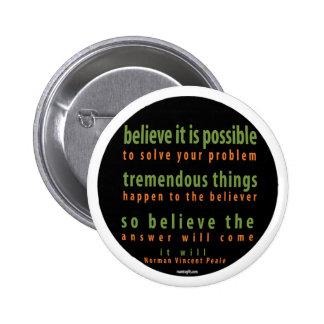 Botón positivo del pensamiento pins