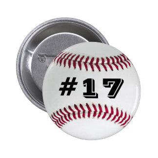 Botón preferido #2 del béisbol del jugador pin redondo de 2 pulgadas