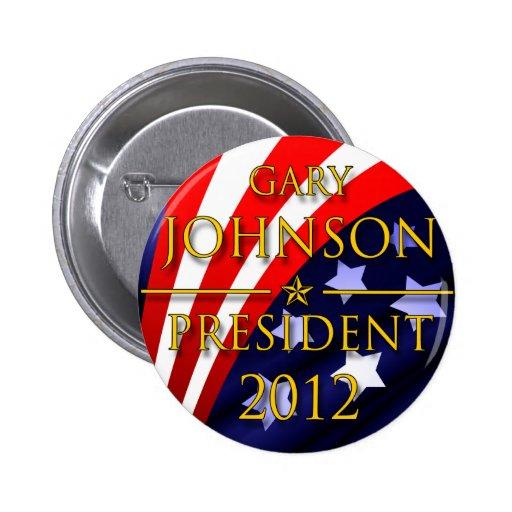 Botón presidencial de Gary Johnson 2012 Pin