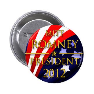 Botón presidencial de Mitt Romney 2012 Pin