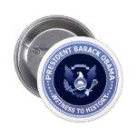 Botón presidencial del sello de la victoria de Oba Pins