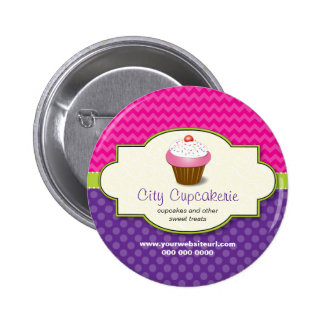 Botón promocional de la tienda de la magdalena pin redondo de 2 pulgadas