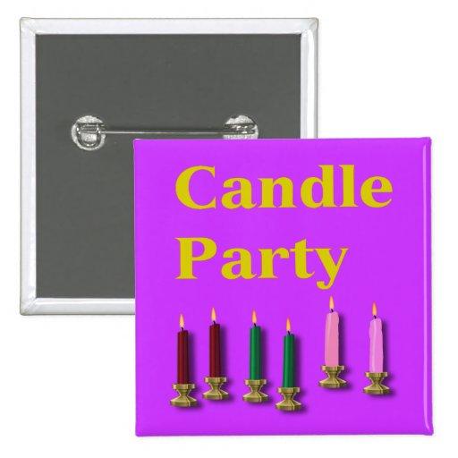 Botón promocional del fiesta de la vela
