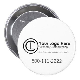 Botón promocional simple y de encargo de su logoti pin