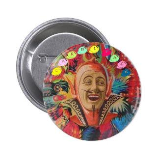 Botón psicodélico de Carnivale Pin