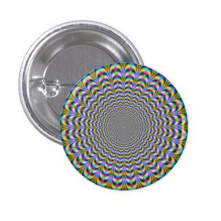 Botón psicodélico del Web Pin Redondo De 1 Pulgada