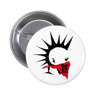 Botón punky extremo del logotipo pins