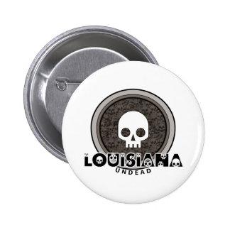 Botón punky lindo de Luisiana del cráneo