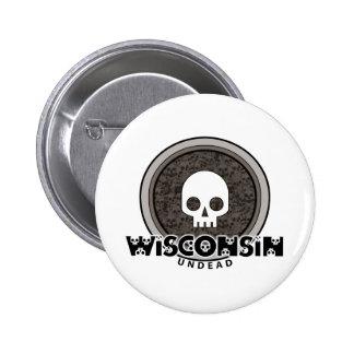 Botón punky lindo de Wisconsin del cráneo Pins