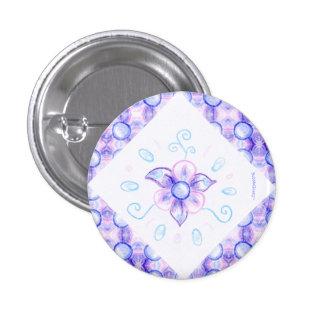 Botón púrpura brillante de la flor pin