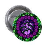 Botón púrpura de cinco setas pins