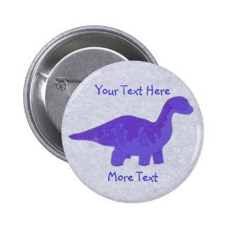Botón púrpura de Dino Pin Redondo De 2 Pulgadas