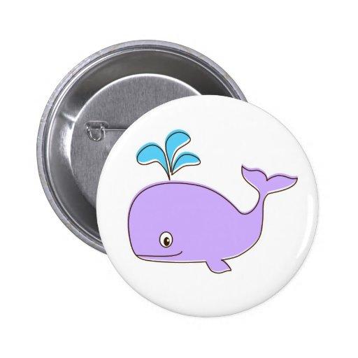 Botón púrpura de la ballena pins