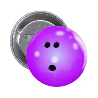 Botón (púrpura) de la bola de bolos