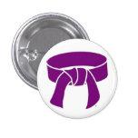 Botón púrpura de la correa pins