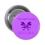 Botón púrpura de la mariposa del camuflaje del Fib Pins