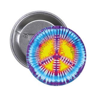 Botón púrpura de la paz pin redondo de 2 pulgadas