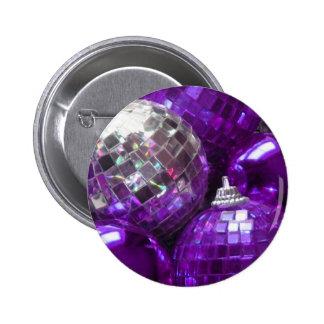 Botón púrpura de las chucherías pin redondo de 2 pulgadas