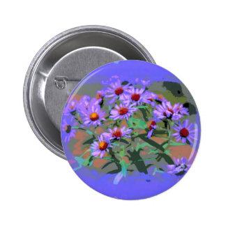 botón púrpura de los asteres