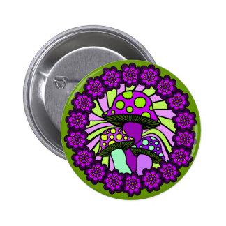 Botón púrpura de tres setas pin redondo de 2 pulgadas