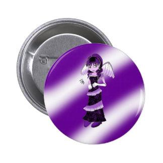 Botón púrpura del ángel pins