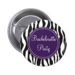 Botón púrpura del fiesta de Bachelorette del estam Pins