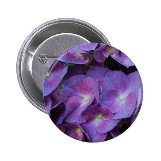 Botón púrpura del Hydrangea Pins