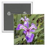 Botón púrpura del iris 2 pin