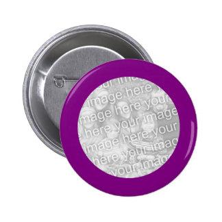Botón púrpura del marco pins