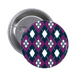 Botón púrpura del modelo de Argyle Pins