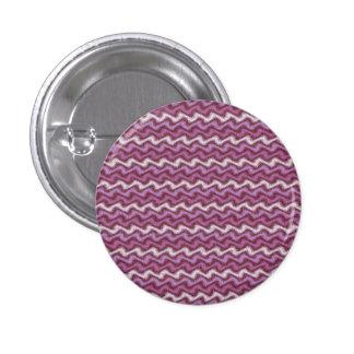 Botón púrpura ondulado pin redondo de 1 pulgada
