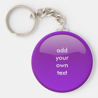 botón púrpura oscuro llavero redondo tipo pin