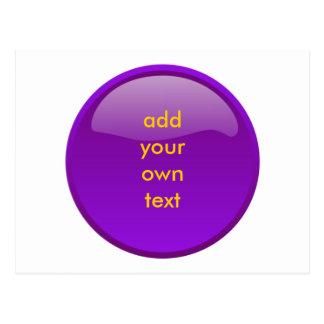 botón púrpura oscuro postales