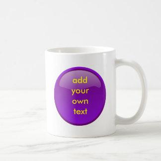 botón púrpura oscuro taza clásica