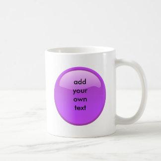 botón púrpura taza clásica