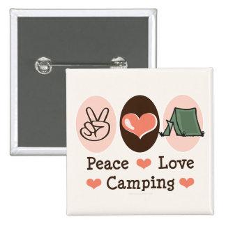 Botón que acampa del amor de la paz